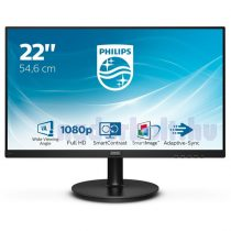 "Philips monitor 21,5"" - 221V8/00 1920x1080, 16:9, 200 cd/m2, 4 ms, VGA, HDMI"